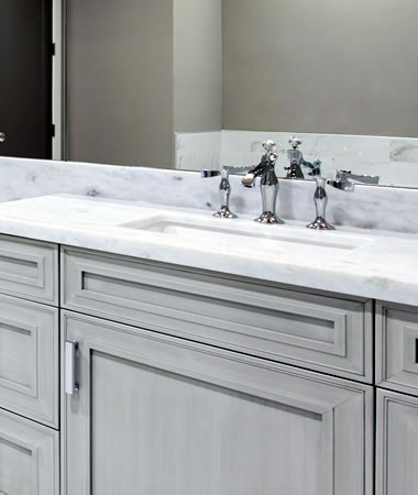 Mountain White Satin Marble